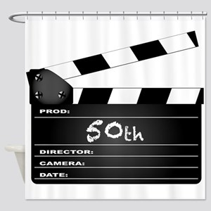 50th Year Clapperboard Shower Curtain