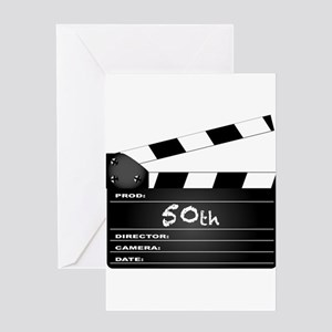 50th Year Clapperboard Greeting Cards
