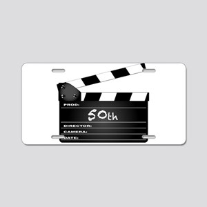 50th Year Clapperboard Aluminum License Plate