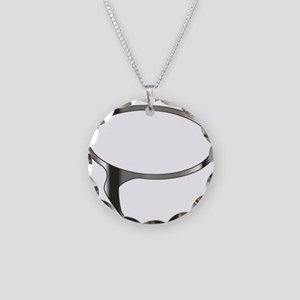 Blank Silver Speech Bubble Necklace Circle Charm