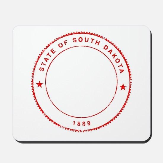 South Dakota Rubber Ink Stamp Mousepad