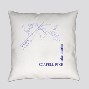 Scafell Pike geocode (blue) Everyday Pillow