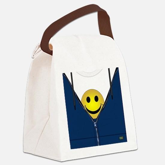 Funny Zipper Canvas Lunch Bag