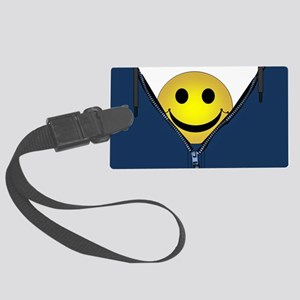 13th Pattern; Hidden Smiley Face Large Luggage Tag