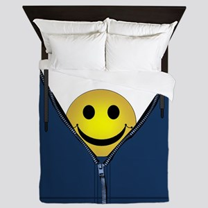 13th Pattern; Hidden Smiley Face Queen Duvet