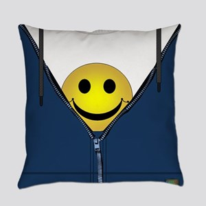 13th Pattern; Hidden Smiley Face Everyday Pillow