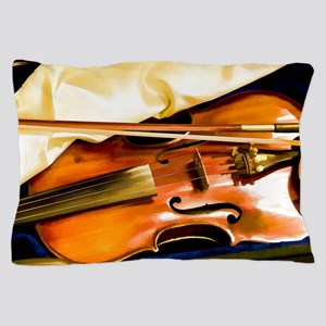 Vintage Violin Pillow Case
