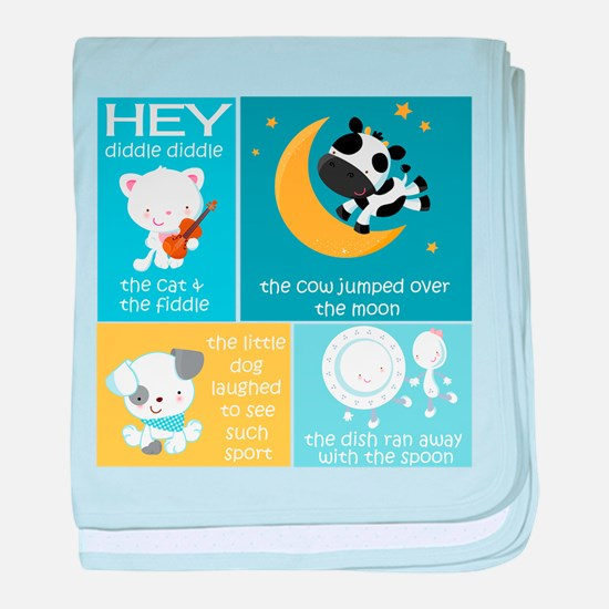 Hey Diddle Diddle Nursery Rhyme baby blanket
