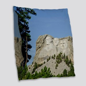 American Presidents Burlap Throw Pillow
