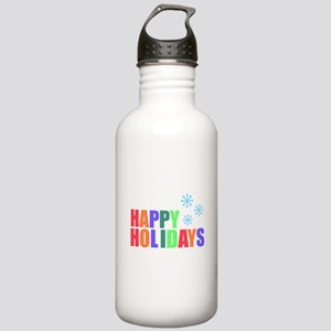 Happy Holidays Stainless Water Bottle 1.0L