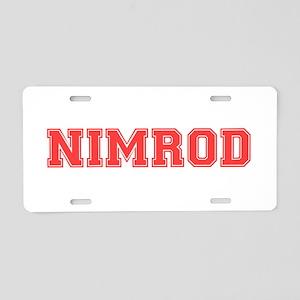 NIMROD Aluminum License Plate
