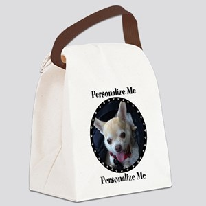 Personalized Paw Print Canvas Lunch Bag