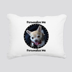 Personalized Paw Print Rectangular Canvas Pillow