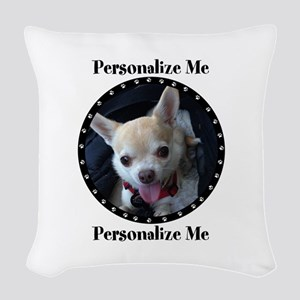 Personalized Paw Print Woven Throw Pillow