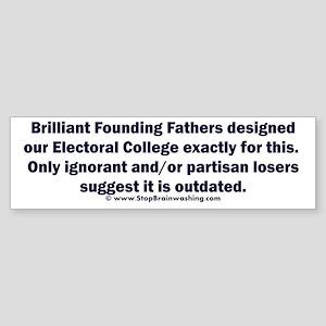 Electoral College Works (bumper) Bumper Sticker