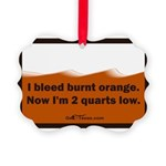 bleed burnt orange Picture Ornament