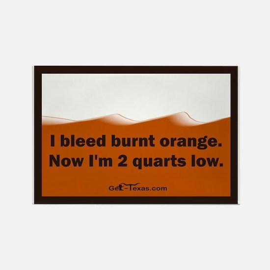 bleed burnt orange Rectangle Magnet