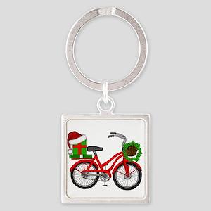 Christmas Bicycle Keychains