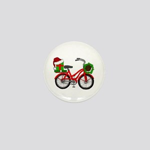 Christmas Bicycle Mini Button