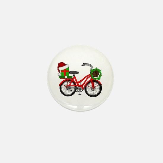 Christmas Bicycle Mini Button