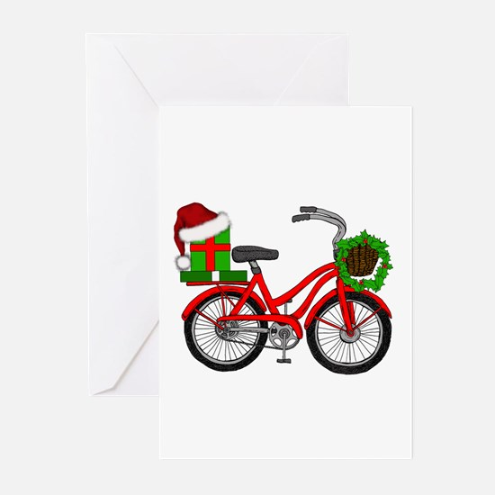 Christmas Bicycle Greeting Cards