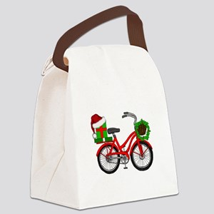 Christmas Bicycle Canvas Lunch Bag