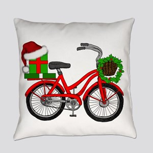Christmas Bicycle Everyday Pillow