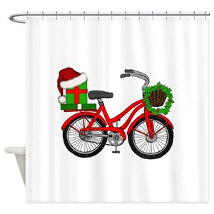 Vintage Bike Shower Curtains