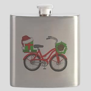 Christmas Bicycle Flask