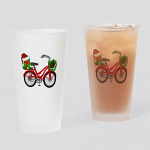 Christmas Bicycle Drinking Glass