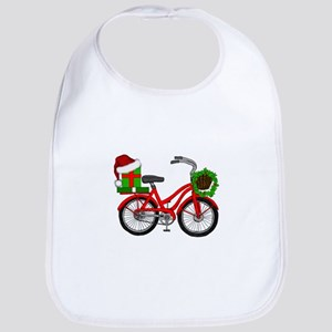 Christmas Bicycle Baby Bib