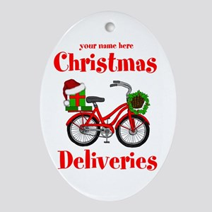 Christmas Deliveries Oval Ornament