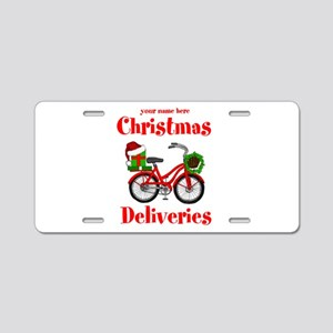 Christmas Deliveries Aluminum License Plate
