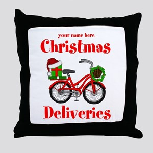 Christmas Deliveries Throw Pillow