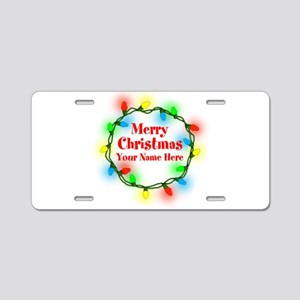 Christmas Lights Aluminum License Plate