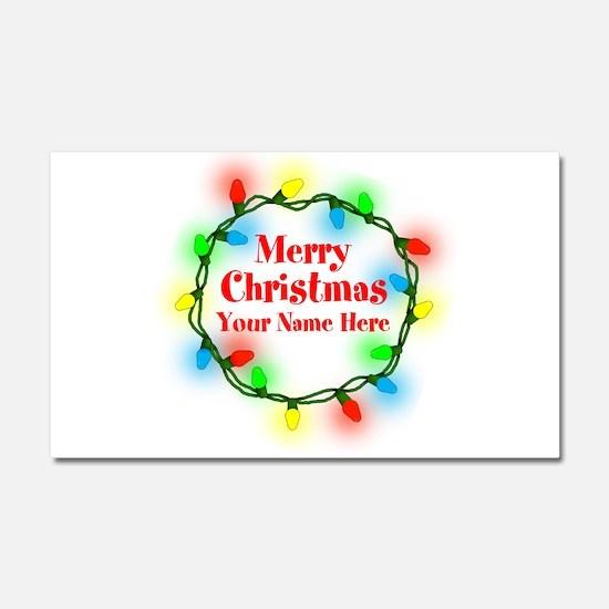 Christmas Lights Car Magnet 20 x 12