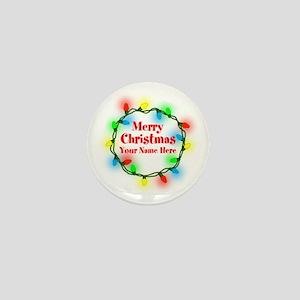 Christmas Lights Mini Button