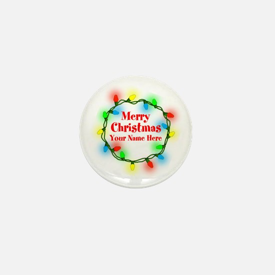 Christmas Lights Mini Button