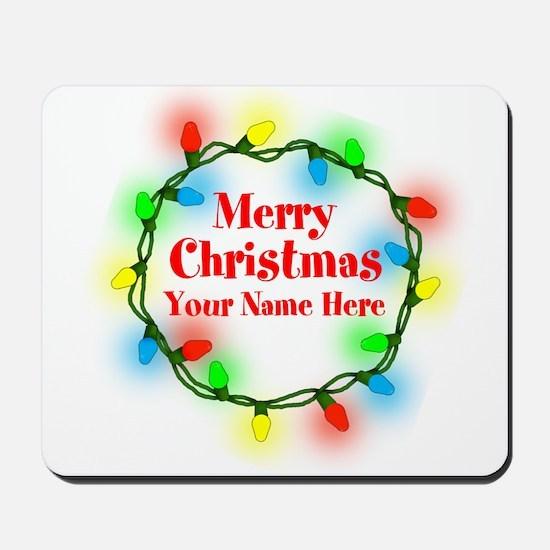 Christmas Lights Mousepad