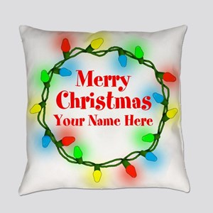 Christmas Lights Everyday Pillow