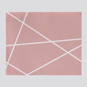 Blush pink Geometric Pattern Throw Blanket
