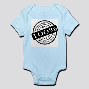 manchester born and bred football club Body Suit