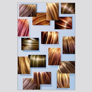 Contrasted Hair Colors - Salon Wall Large Poster
