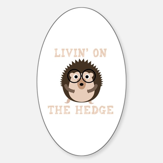 Cute Hog Sticker (Oval)