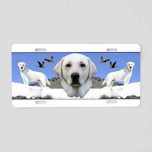 Yellow Labrador tribute Aluminum License Plate