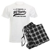 80th birthday Men's Pajamas