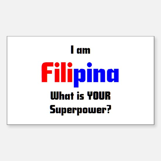 i am filipina Sticker (Rectangle)