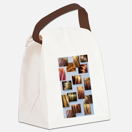 Contrasted Hair Colors. Stylist Canvas Lunch Bag
