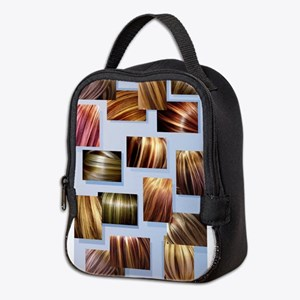 Contrasted Hair Colors On Neoprene Lunch Bag