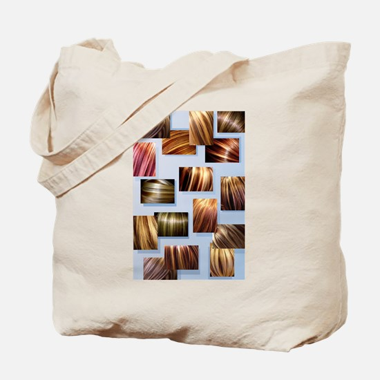 Contrasted Hair Colors Printed On Tote Bag.